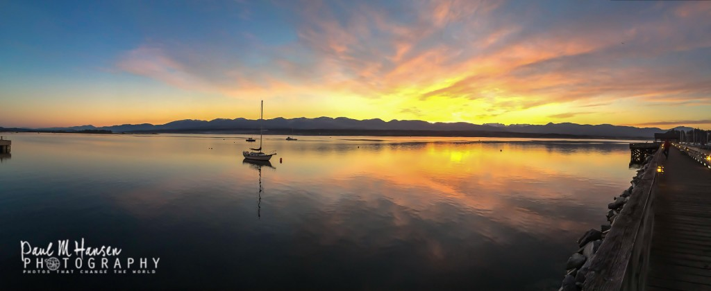 Sunset at the Comox Marina