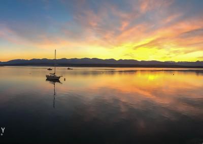 Comox Marina Sunset