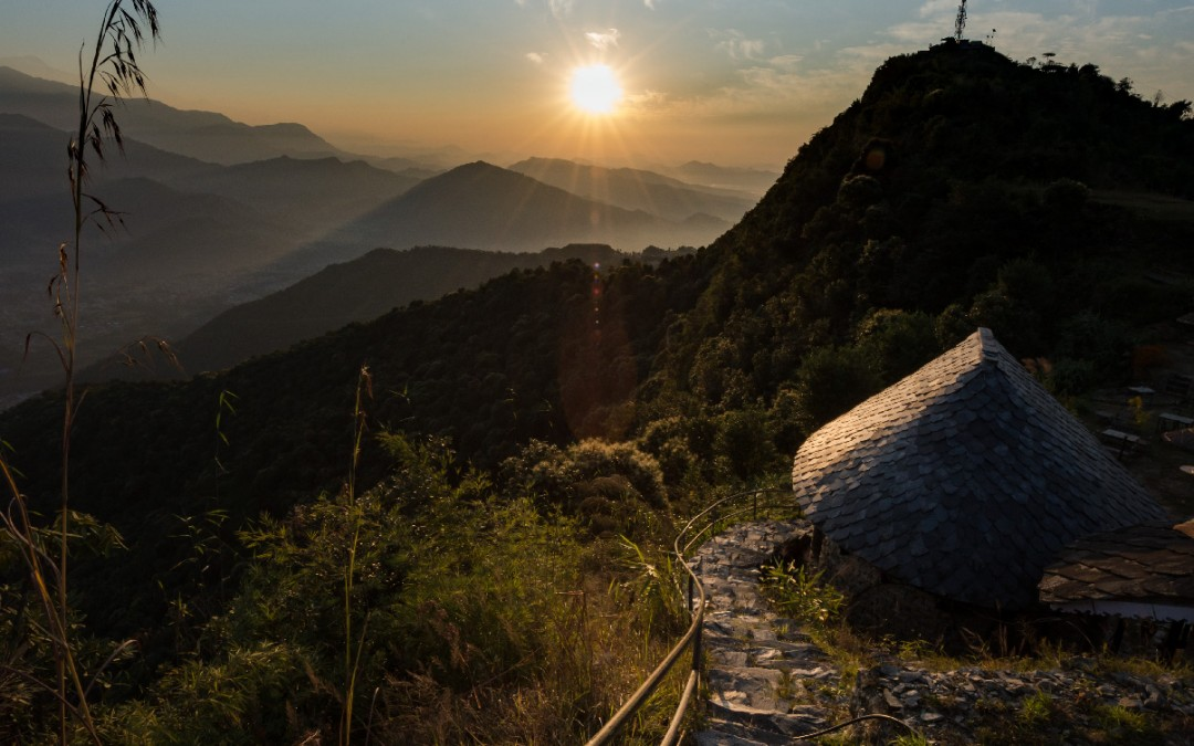 Himalayan Sunrise with Diwali madness